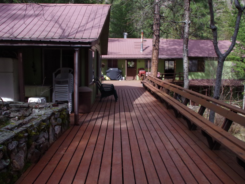Cutthroat and rainbow trout fly fishing lodge